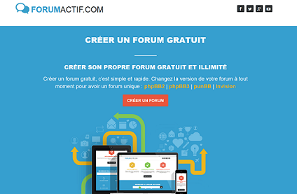 créer un forum avec Forumactif.com