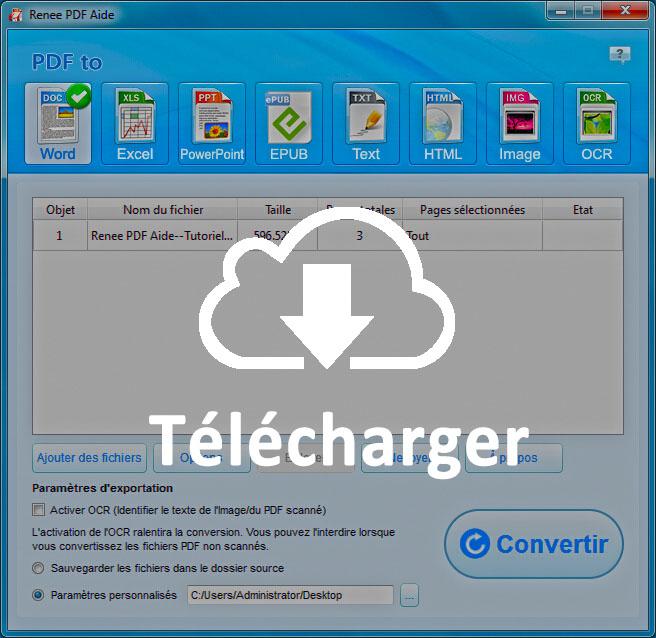 Convertir de PDF à Excel avec un convertisseur PDF gratuit - Renee PDF Aide